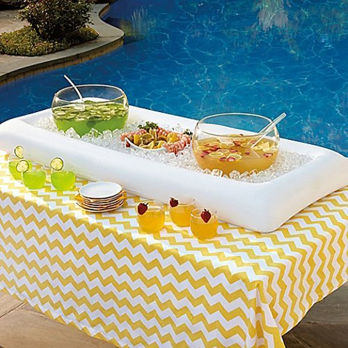 Cool Downz Inflatable Salad/Serving Bar, White, 51'' L x 25'' W x 4.5'' Deep (2-Pack) by Cool Downz (Image #5)