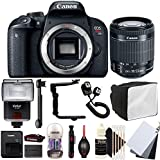 Canon EOS Rebel T7i 24.2MP Digital SLR Camera with 18-55mm EF-IS STM Lens , SF-4000 Slave Flash and Accessory Kit