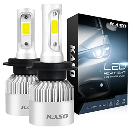 H7 Bulbs3 WarrantyKASO Headlight Kit Fog in All Conversion White RX2 Highly WaterproofH7 LED 8000Lm Cool One H7 72WSet 6500K Years Lights R4LqA35j