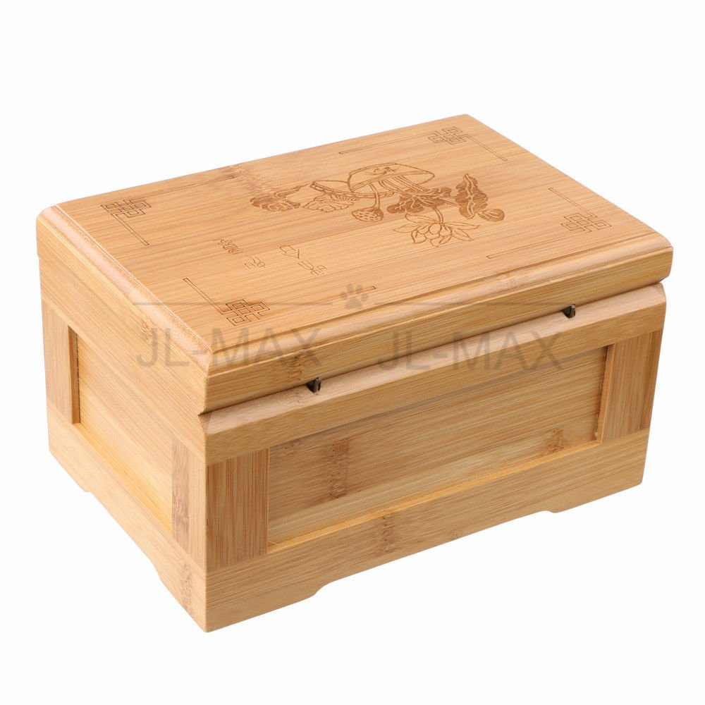 Handcraft Bamboo Stash Box and Tray with Metal Latch Decorative Wooden Boxes Premium Quality Bamboo Swag Box Medium Size for Jewelry Collectibles Treasures and More - Gift Box - Eco Green (Bamboo) (L)