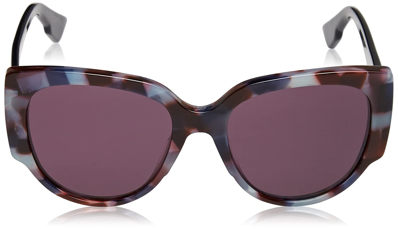 0fc3608b8bbb Amazon.com: Christian Dior Night 1/S Sunglasses Havana Light Blue / Dark  Purple: Dior: Clothing