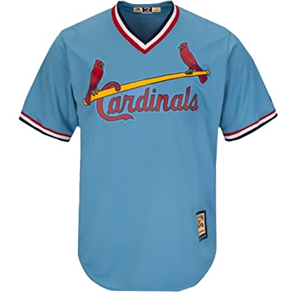29e6f95ad Majestic Ozzie Smith Cool Base Coastal Blue V Neck Cooperstown Tackle Twill  Jersey (X-