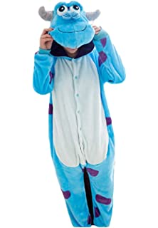 Women Men Adult Sulley Unisex Anime Christmas Halloween Carnival Cosplay  Kigurumi Outfit… 1c46d6826326