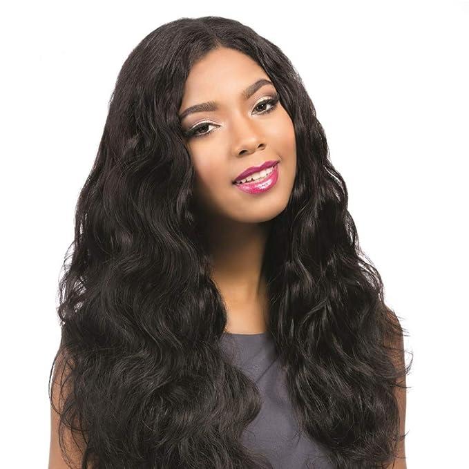Lucas peluca Madera Brasileña con bebé pelo liso Body Wave pelucas Lace frontal Remy de cabello real de 100% unverarbeitet Virgin Hair 130% Densidad: ...