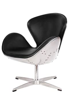Hand Hammered Aluminum Aviator Mid Century Modern Classic Arne Jacobsen  Style Swan Replica Chair With Premium