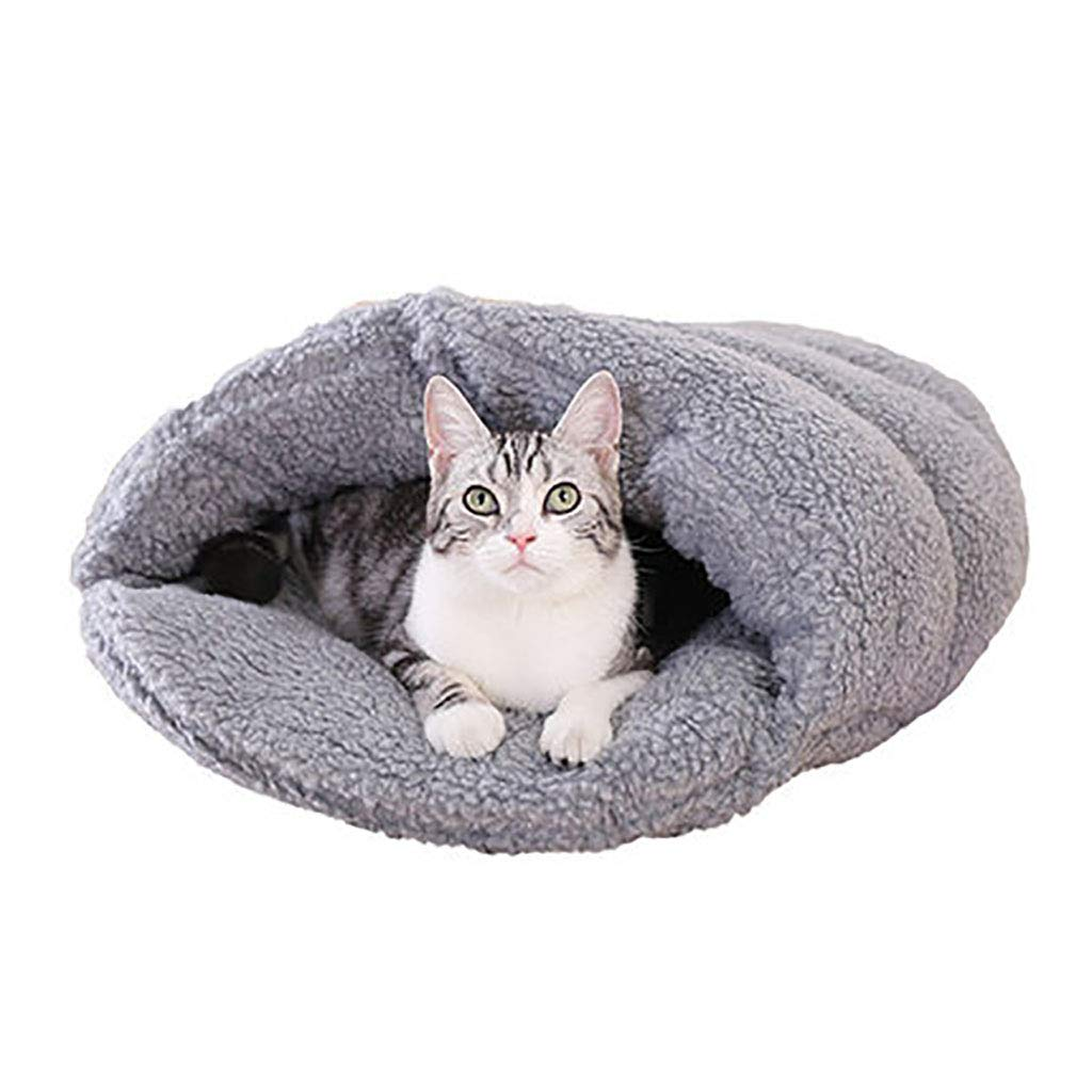 A 5443 A 5443 Pet house Cat nest Cat house Closed type Cat sleeping bag pet nest Pet mat Pet bed Soft and comfortable Four seasons available (color   A, Size   54  43)