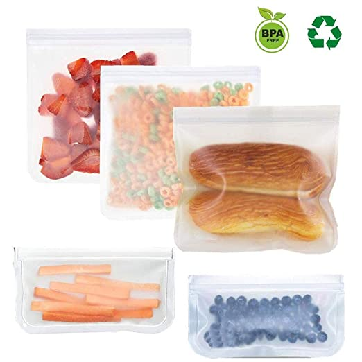 WSN Bolsa Almacenamiento Alimentos Silicona Reutilizable ...