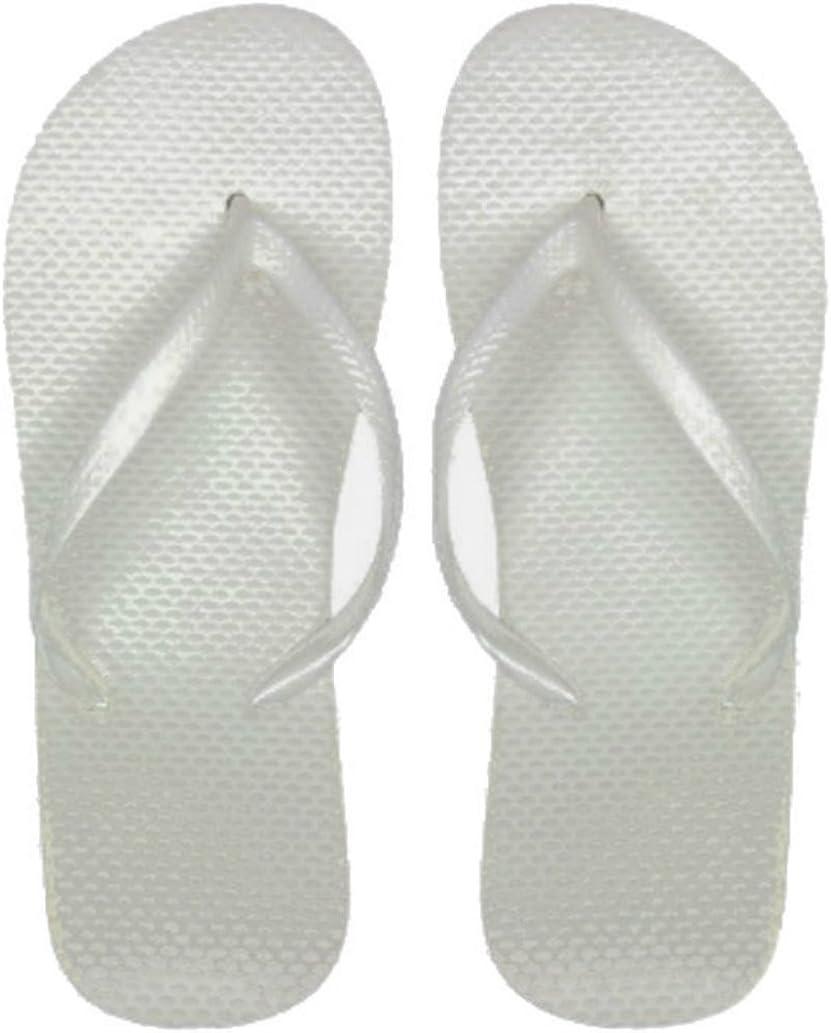DDI Wholesale Women's White Flip Flops