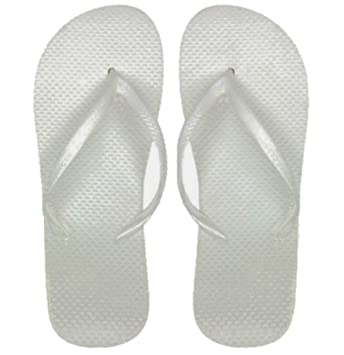 9229f0f0d924b Image Unavailable. Image not available for. Color  DDI Wholesale Women s  White Flip Flops