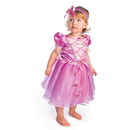 Disney Princesas Disfraz Rapunzel lujo talla, 12-18 meses, color rosa (Travis Designs DCPRRAP012)