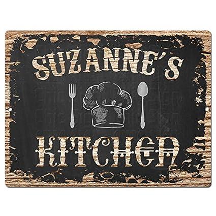 Amazon Com Suzanne S Kitchen Chic Sign Vintage Retro Rustic