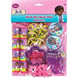 "Amscan Doc McStuffins Mega Mix Value Pack Birthday Party Favours (48 Pack), Multi Color, 11 1/2"" x 9"". Toy, Multi Color"