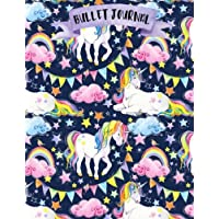 Bullet Journal: Unicorn - 160 pages - 8.5 x 11 - Perfect for Beginners - Soft glossy Cover - Dot point - bullet journal - dot grid - planner - planning - organizer - journal - Bujo - Unicorns
