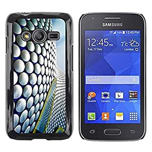 Be Good Phone Accessory // Dura Cáscara cubierta Protectora Caso Carcasa Funda de Protección para Samsung Galaxy Ace 4 G313 SM-G313F // Architecture Building Pattern