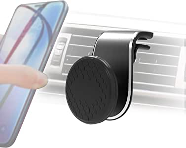 Car Phone Holder, Universal Magnetic Air Vent Mount Kit 360° Rotation Black for All Smartphones,iPhone Xs/XR/XS MAX/X 8 Plus 7 6, Samsung Galaxy, Huawei and More Smartphones GPS
