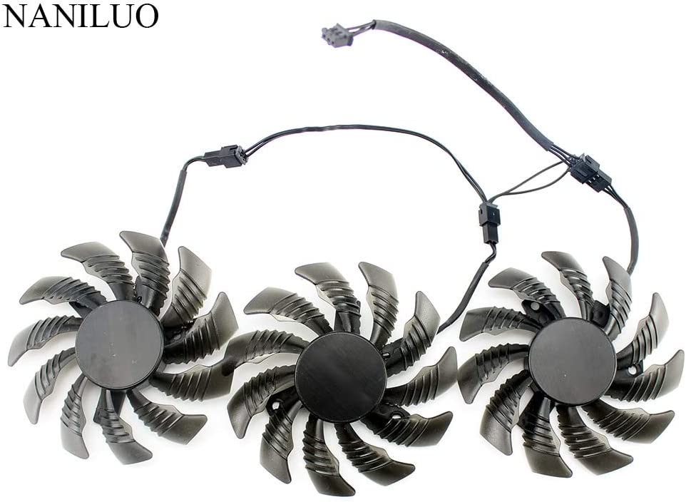 Fans & Cooling - 3pcs 3pin 75MM T128010SU PLD08010S12H GTX970 VGA GPU Cooler Fan For Gigabyte GTX 970 Windforce G1 Graphics Cards As Replacement