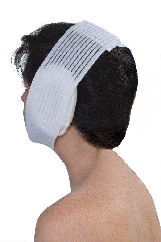 Face Wrap & Ear Surgery Pillow – Post Surgery Chin Compression Garment – Medical Head Wrap for Facial Surgery, Face Lift Kit, Chin Lift, Oral Maxilliofacial Surgery, Otoplasty, TMJ & more (S18)