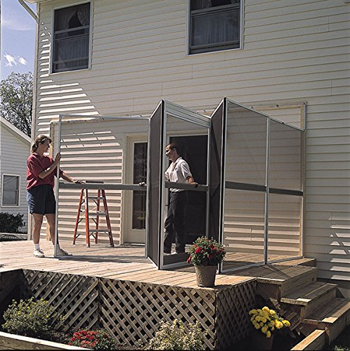 Perfect Patio Mate 10 Panel Screen Enclosure 09165, Brown With Almond Roof