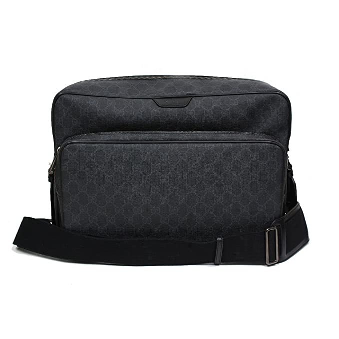 Gucci GG Supreme Canvas Leather Messenger Bag Grey Black 319812  Amazon.ca   Clothing   Accessories 8ac738d9c3eba