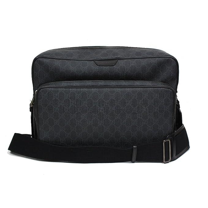 Gucci GG Supreme Canvas Leather Messenger Bag Grey Black 319812  Amazon.ca   Clothing   Accessories 8ac738d9c3eba