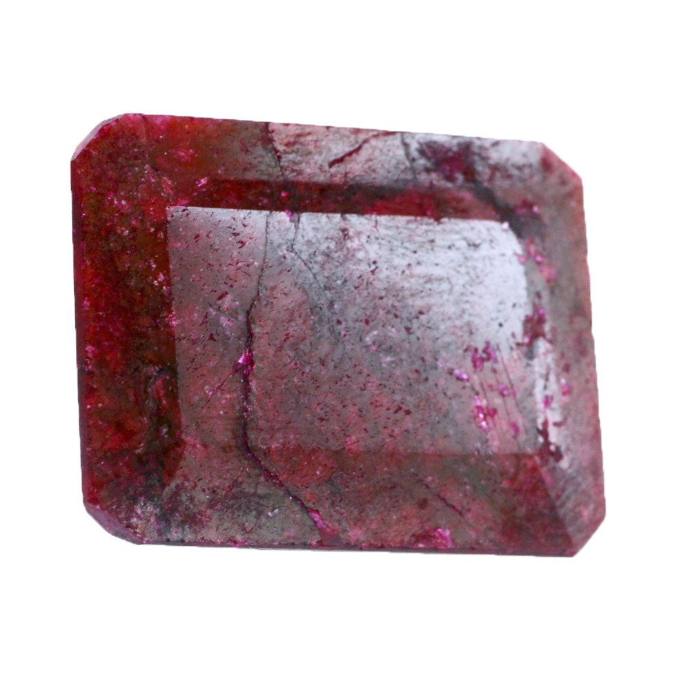 skyjewels Certified 41.95 Ct Emerald Cut Ruby Loose Gemstone
