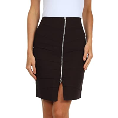 Above The Knee Zippered Tiered Sleek Stretch Pencil Skirt at Amazon Women's Clothing store: Plus Size Skirts