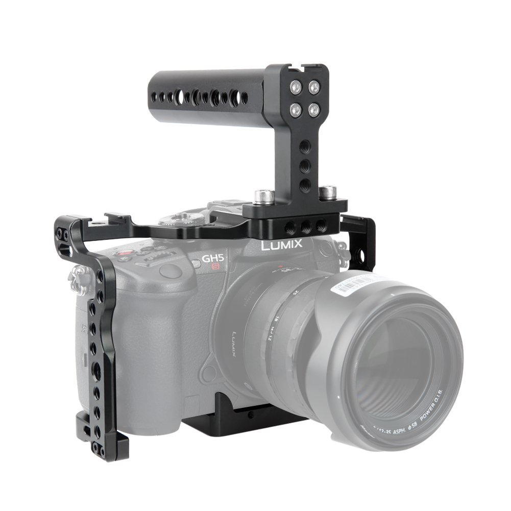 NICEYRIG GH5s GH5 Camera Cage Kit Camera Cheese Top Handle Cold Shoe Mount NATO Rail Applicable Panasonic Lumix GH5/ GH5s