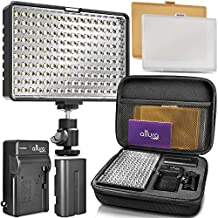 Altura Photo 160 LED Camera Light - Professional Dimmable Studio Light Panel with Battery, Charger and Carry Case for DSLR Video Camera Camcorder (Canon, Nikon, Panasonic, Sony, Samsung, Olympus)