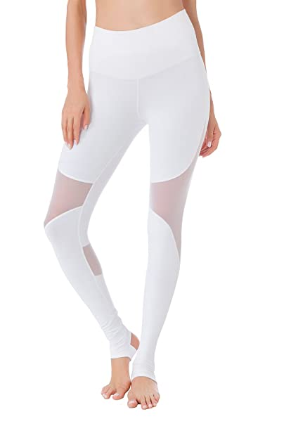 2e434af3e22 Queenie Ke Women Power Mesh High Waist Gym Yoga Leggings Wortout Running  Tights Size XS Color