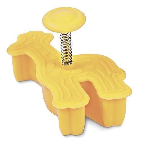 Staedter jirafa repujado molde para galletas con expulsor, amarillo, 6 cm