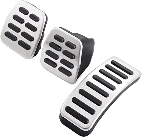 AndyGo Fit for VW Bora/Jetta Mk4 / Golf Mk4 / Polo 9N Non-Slip Stainless Steel Style Pedal Cover for Manual Gear