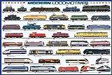 Modern Locomotives Poster 36 x 24in