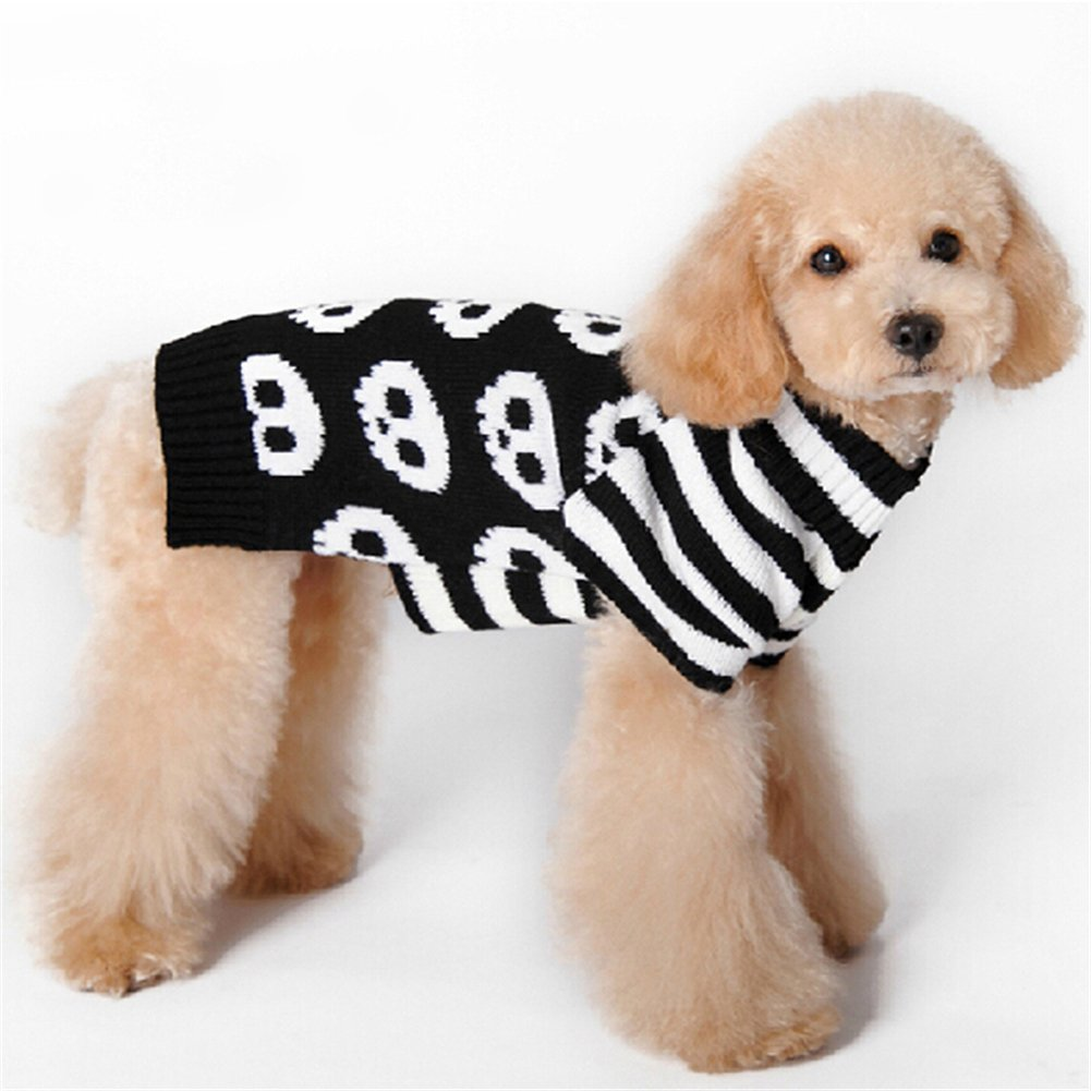 NACOCO Pet Sweaters Skeleton Sweater The Cat Dog Clothes Pet Clothing Little Puppy Dog Sweaters (Small) by NACOCO (Image #2)