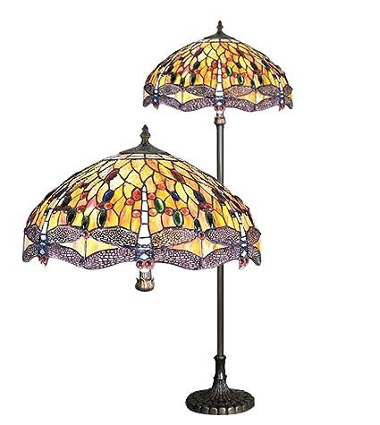 Dragonfly Tiffany Floor Lamp Amazoncouk Lighting