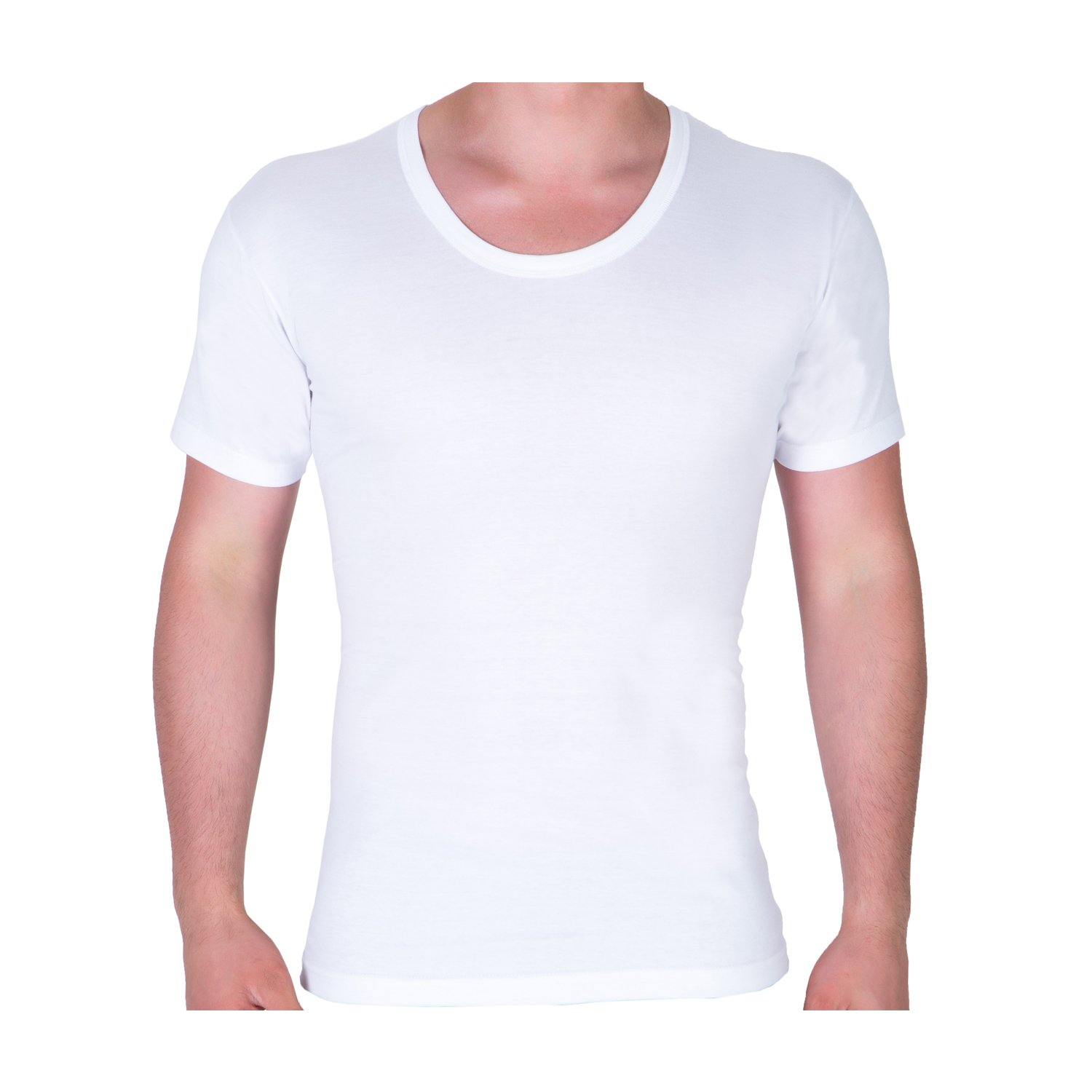 96119d46633 Super Soft Combed Cotton Crew Neck Mens Undershirt, 3-Pack Tagless White T  Shirts for Men by Klano Undershirts at Amazon Men's Clothing store: