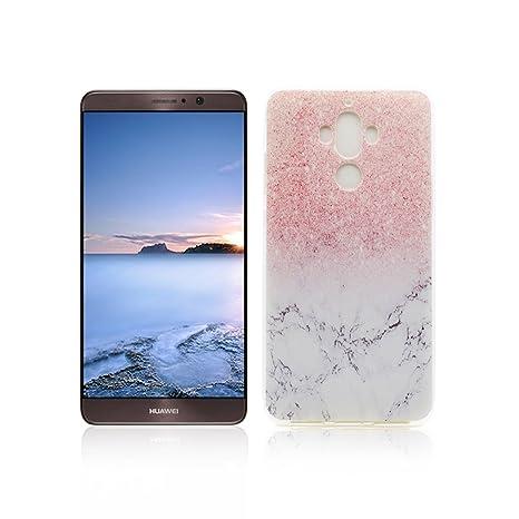 Funda Huawei Mate 9 Carcasa Protectora OuDu Funda para Huawei Mate 9 Caso Silicona TPU Funda Suave Soft Silicone Case - Mármol