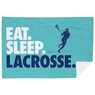 ChalkTalkSPORTS Girls Lacrosse Premium Blanket | Eat. Sleep. Lacrosse. Horizontal | Teal: Home & Kitchen [5Bkhe2003541]