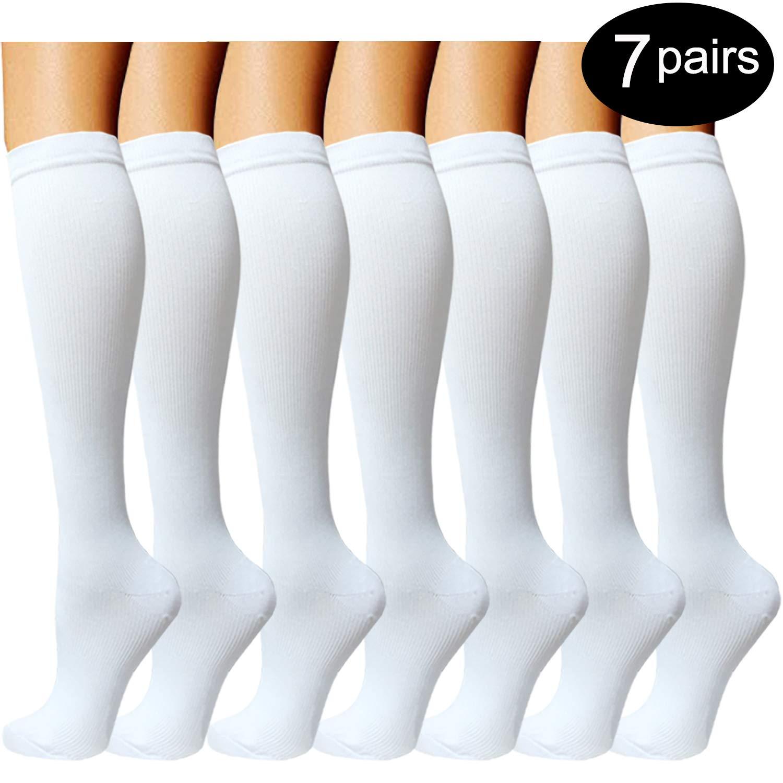 170eb87b01 4Pairs Compression Socks For Men & Women Best for  Running,Medical,Sports,Flight Travel Pregnancy 20-25mmHg
