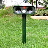 Solar Animal scarers Ultrasonic Signal Strong Flash Garden Lawn Park Protector Solar Ultrasonic electronic animal scarers Bird flooding Cats Dogs rat snake wild boar rabbit control device