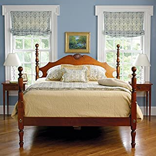 product image for Eldred Wheeler Cannonball Platform Bed Tiger Maple - Queen