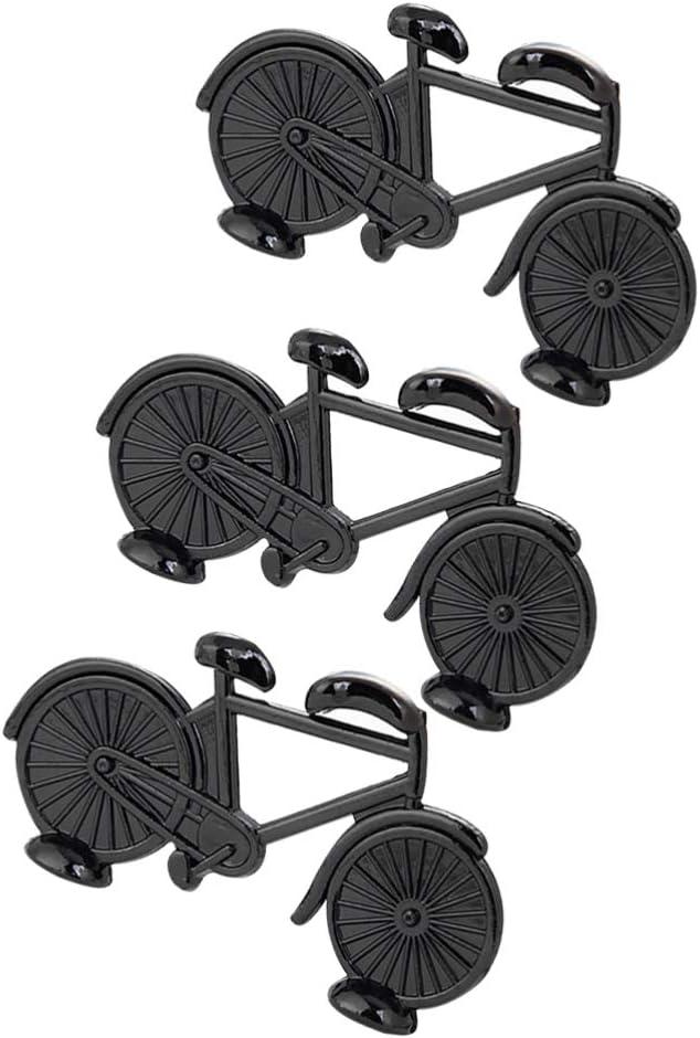 Garneck 3 Pezzi Porta Segnaposto per Matrimoni Segnaposti da Tavolo Porta Memo Portafoto Clip Supporti per Bici Forma Menu Clip Mini Modelli di Biciclette Bicicletta Bomboniere Nero