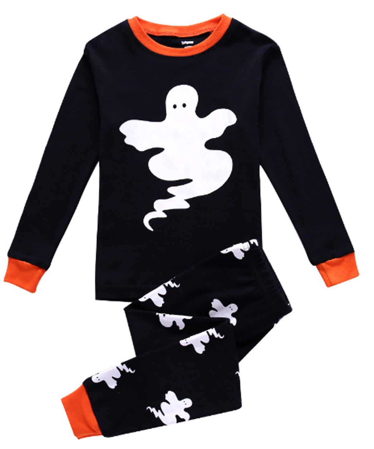 Little Boys Halloween Gost Pajamas Sets 100% Cotton Clothes Toddler Kid Nightgown