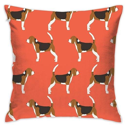 atopking Beagles Beagle - Funda de cojín de Lino y algodón ...