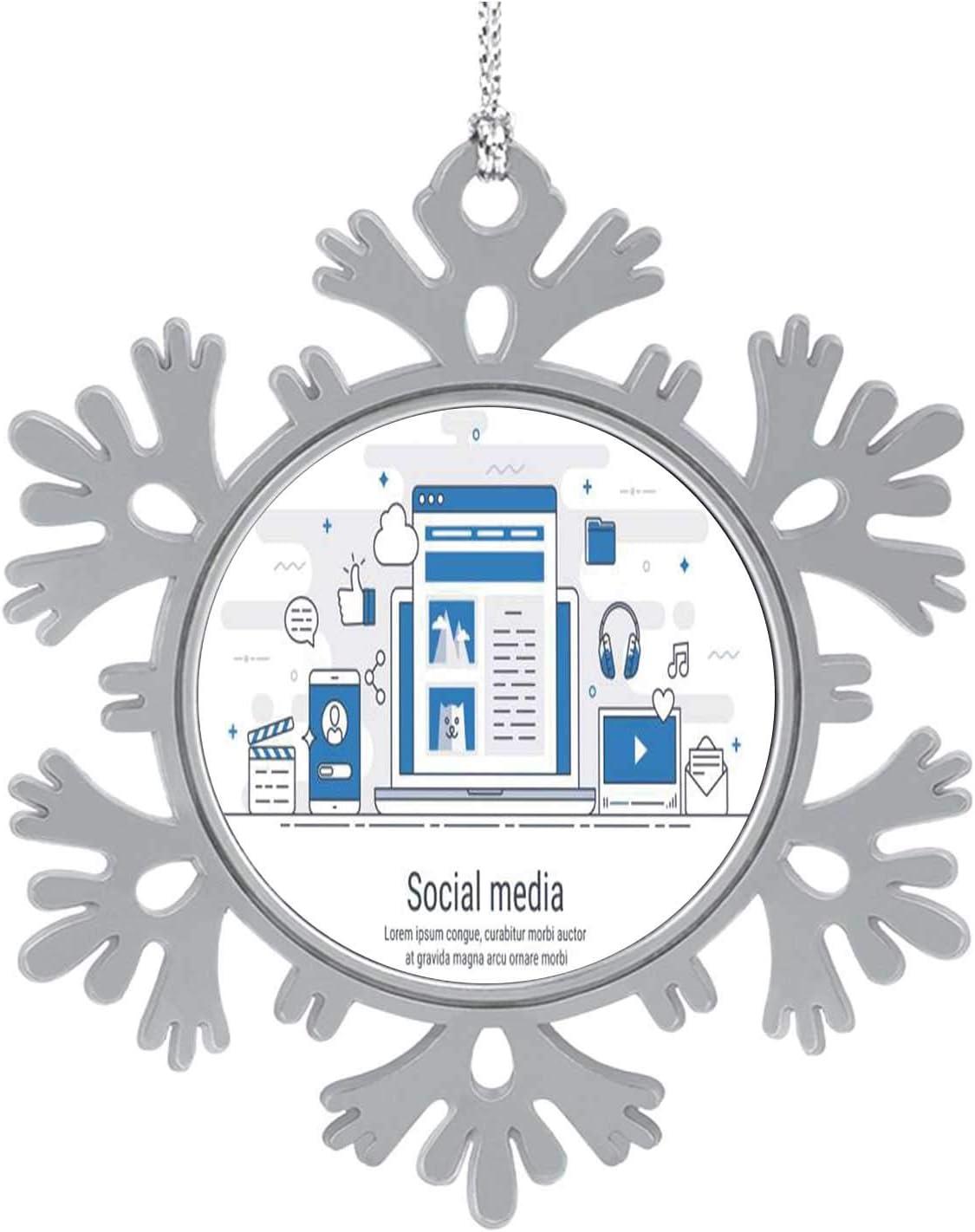 C COABALLA Social Media- Russia,Hanging Ornament Decoration Kit,Hanging for Xmas Holiday Party Decor Social Media 3PCS