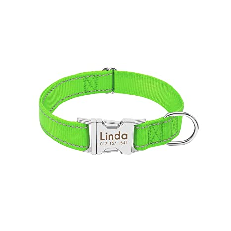 Collar de Perro Personalizado Nylon Durable del Collar Reflectante ...