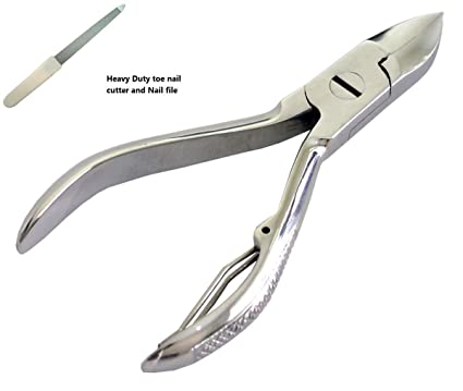 Alicates profesionales para cortar las uñas de los pies, con lima