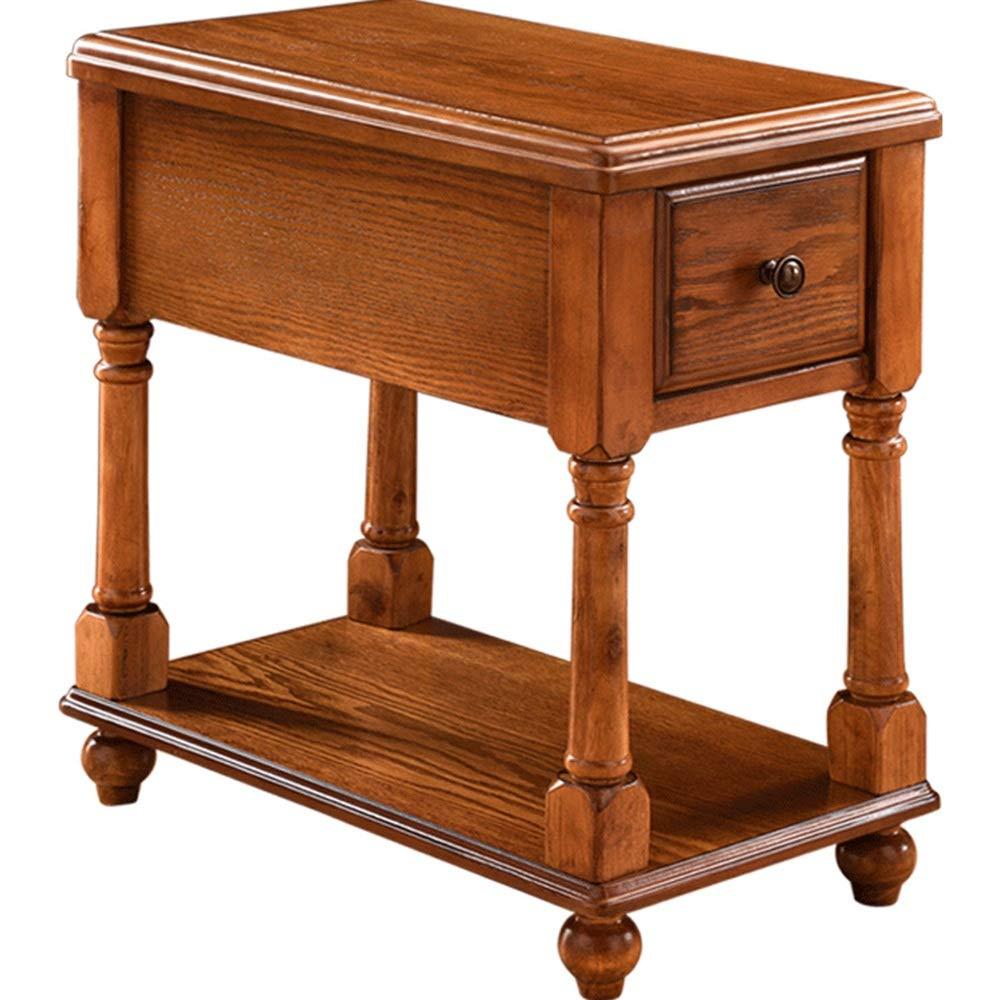 5 IN 1 TABLE XIAOYAN Beistelltisch Beistelltisch, Couchtisch aus Massivholz, Nachttisch Wohnzimmer Sofa Beistellschrank und Telefon Schreibtisch -56 * 33 * 59cm Mehrzweck (Farbe : Holz)