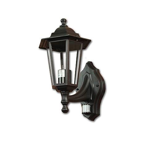schwarz Aussenlampe Laterne Wandleuchte Außenleuchte Metall