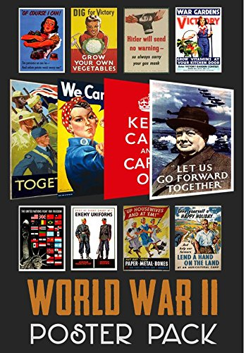 - World War 2 Propaganda Poster Pack (12 posters) WWII - ideal for schools - A4 Paper Size