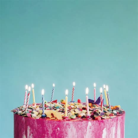 Amazon.com : LFEEY 8x8ft Father Mother Birthday Cake Photography ...